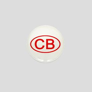 CB Oval (Red) Mini Button