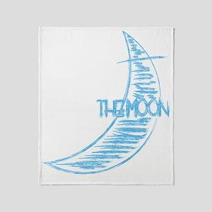 pk_rag_back_moon Throw Blanket