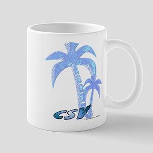 Blue Beach Palm Mug