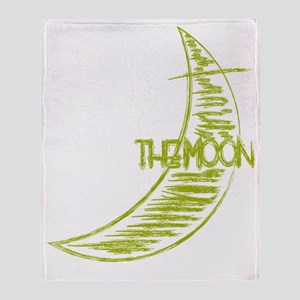 bk_rag_back_moon Throw Blanket