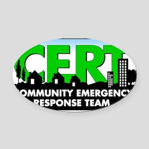 CERT Logo Oval Car Magnet