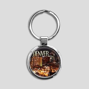 Denver Colorado Round Keychain