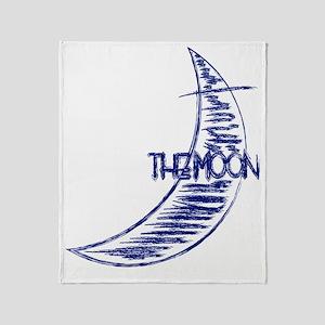 ls_back_moon Throw Blanket