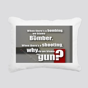 Blaming the gun? Rectangular Canvas Pillow