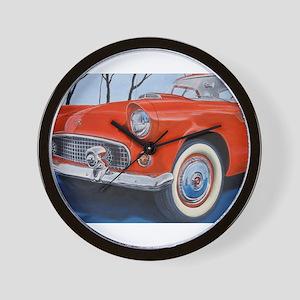 1955 Thunderbird Wall Clock