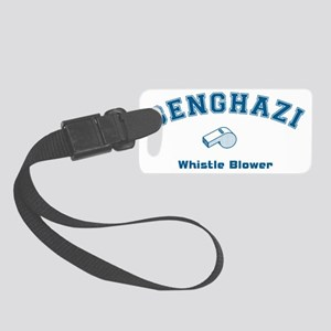 Benghazi Whistle Blower Blue Small Luggage Tag