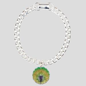 Tie Dye Disc Golf Basket Charm Bracelet, One Charm