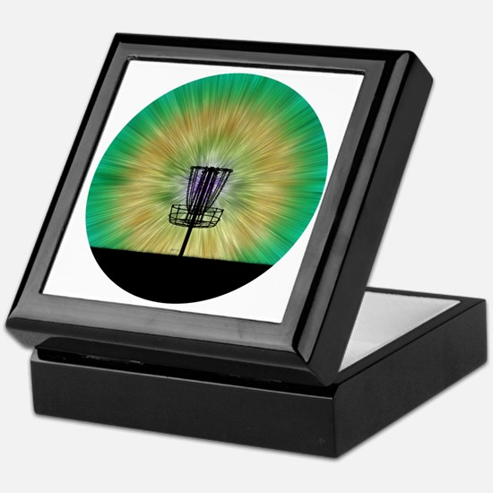 Tie Dye Disc Golf Basket Keepsake Box