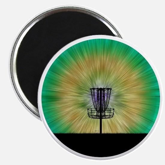 Tie Dye Disc Golf Basket Magnet