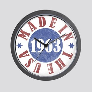 1963 Made In The USA Wall Clock