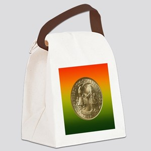 Albany NY Charter Half Dollar Coi Canvas Lunch Bag