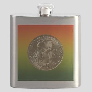 Albany NY Charter Half Dollar Coin  Flask