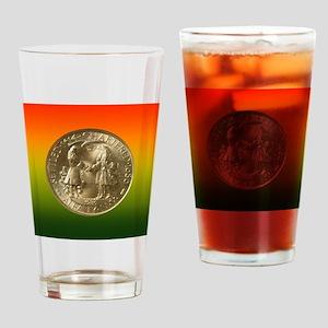 Albany NY Charter Half Dollar Coin  Drinking Glass