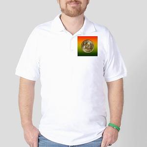 Albany NY Charter Half Dollar Coin  Golf Shirt