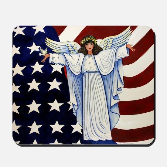 Angel of the USA Mousepad
