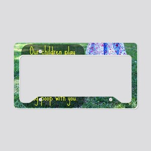 Our Children play in this gra License Plate Holder