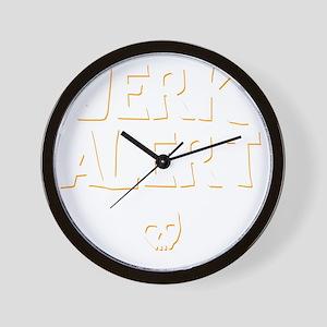 Jerk Alert Wall Clock