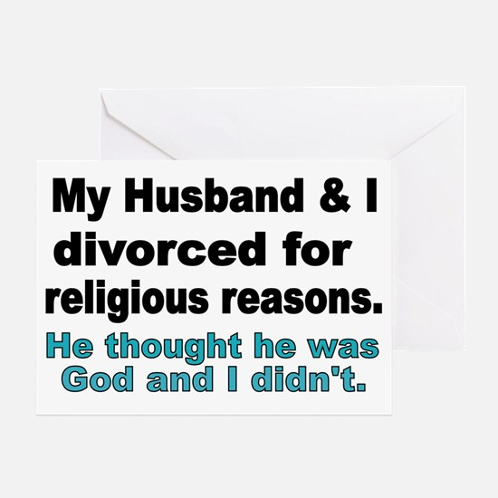My Husband  I Divorced for religious Greeting Card