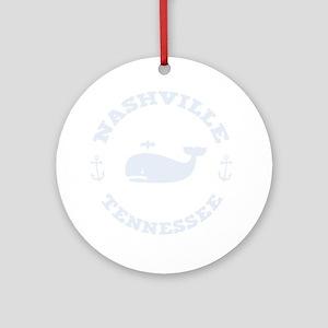souv-whale-nashvl-DKT Round Ornament