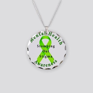 Stomping Out Stigma Necklace Circle Charm