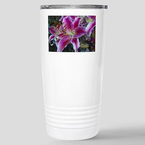 Stargazer Lily Stainless Steel Travel Mug