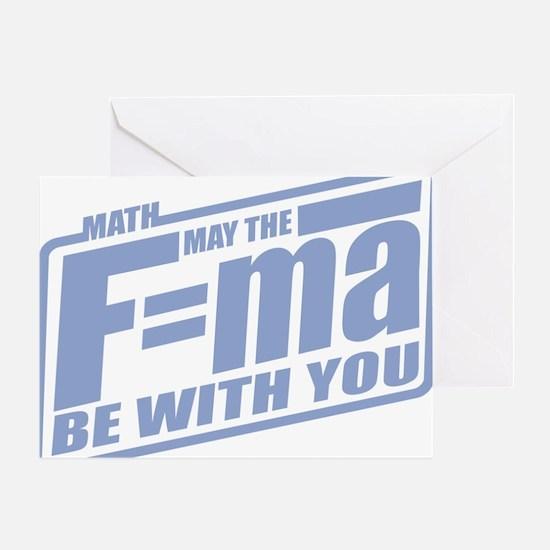 F=ma Greeting Card