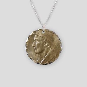 Daniel Boone Half Dollar Coi Necklace Circle Charm
