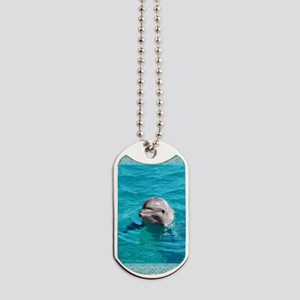 Dolphin Blue Water Dog Tags