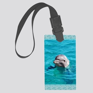 Dolphin Blue Water Large Luggage Tag
