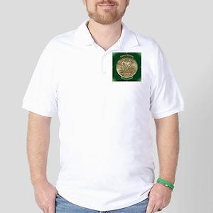 Daniel Boone Half Dollar Coin  Golf Shirt