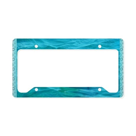 Dolphin Blue Water License Plate Holder By Admin Cp2467713