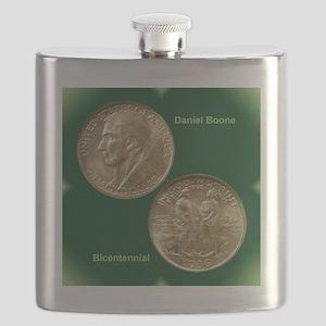 Daniel Boone Half Dollar Coin  Flask