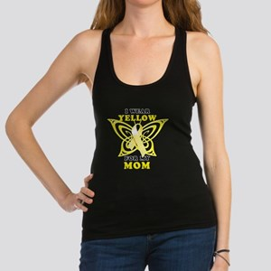 I Wear Yellow For My Mom Racerback Tank Top