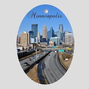 Minneapolis_2.41X4.42_iPhone3GHardCa Oval Ornament
