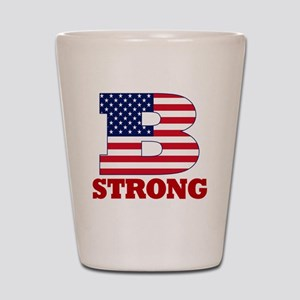 b strong(blk) Shot Glass