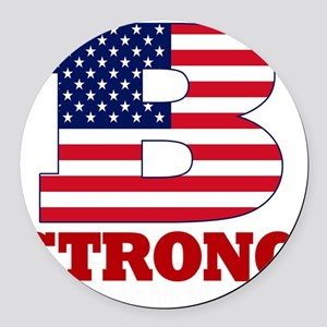 b strong(blk) Round Car Magnet