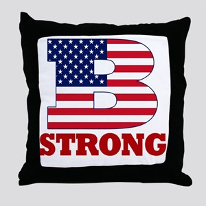 b strong(blk) Throw Pillow