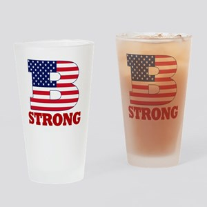 b strong(blk) Drinking Glass