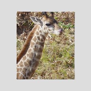 Baby Masai Giraffe Throw Blanket