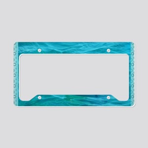 Dolphin Blue Water License Plate Holder
