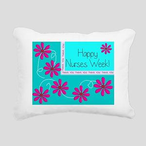 HAPPY NURSES WEEK BLUE 1 Rectangular Canvas Pillow