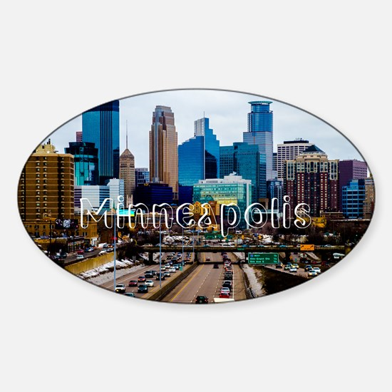 Minneapolis_11.527X6.11_ClutchBag_D Sticker (Oval)