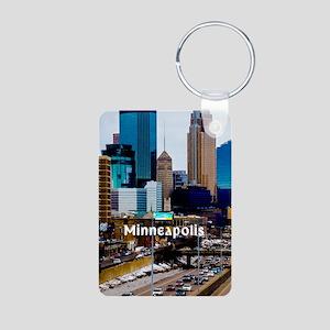Minneapolis_3.1X5.7_Galaxy Aluminum Photo Keychain