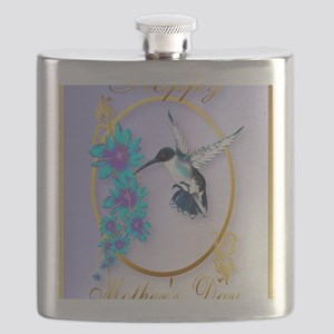 459_ipad_case Mothers Day with humming birds Flask
