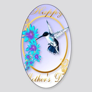 459_ipad_case Mothers Day with humm Sticker (Oval)