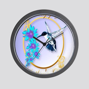 459_ipad_case Mothers Day with humming  Wall Clock