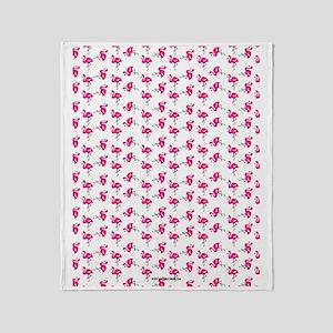 Flamingos Dancing Throw Blanket
