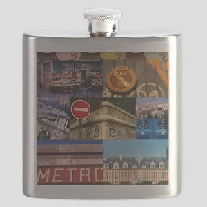 Paris Collage Flask