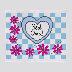 Best Oma Blue Throw Blanket