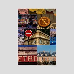 Paris Collage Rectangle Magnet